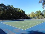 Tennis courts seen from our deck