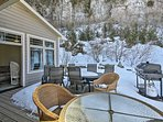 Enjoy the surrounding beauty in style from 'Cliff Cottage.'