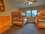 Kids will love having their own space in this bunk room.