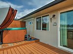 This 2-bed, 2-bath home comfortably sleeps 5 travelers.