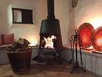 Log burner for those cooler winter evenings.