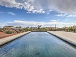 Swim year-round with the private heated pool.