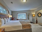 Two lucky travelers will adore this luxurious king master suite.