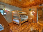 Two twin-over-full bunk beds provide accommodations for up to 4.