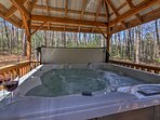 Hop in the hot tub to soothe your muscles.