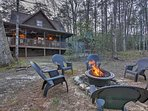 End your evening by the fire pit.