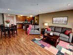You'll feel right at home in our spacious living areas