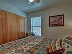 Sleep soundly upon the queen bed in the second room.