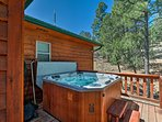 From the hot tub to the fireplace, this cabin is sure to keep you cozy!