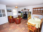 Cosy and Cheerful Living room with solid fuel stove ( oil fired heating also)