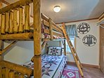 Sleep tight on the twin-over-twin bunk bed.