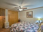 You're sure to fall fast asleep upon the second bedroom's queen bed.