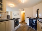 Fully equipped kitchen with oven and hob - aga is decorative only