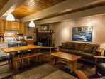 Knotty Pine-Living/dining/ kitchen