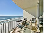 Large private balcony overlooking Gulf of Mexico