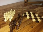Wood Chess and Checkers Pieces