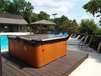 Hot Tub by the Pool