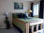 New Queen Log Bed and New Mattresses in Master Bedroom