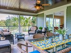 A large screened porch is on the second floor. Here you can relax and breath in the ocean air or dine at the table for...
