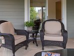 Catch some quiet time on the screened porch.