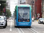 Streetcar in Cincinnati, OH. Inexpensive way to get around the city.