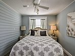 Turn on the ceiling fan for a gentle breeze.