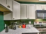 With granite countertops, the kitchen feels like a Food Network Studio.