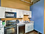 The fully equipped kitchen is ready to see what dishes you'll prepare.