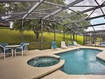 Take a dip in the private heated pool during your next getaway to Kissimmee!