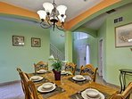 Gather around the dining room table for a family-style meal.