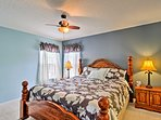 This upstairs room also offers a comfortable bed for 2.