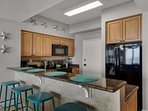 You will enjoy cooking meals in the fully stocked kitchen