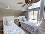 Twin Beds in the loft provide for comfortable sleeping for additional guests.