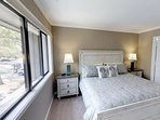 Comfortable and Relaxing King Size Bed awaits you after a long day at the beach, pool or golf course.