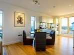 Open plan living space for self-catering property