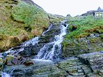 Waterfall at Mwnt