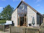 Lottisham Barn in a rural peaceful location with own Hot Tub near Glastonbury