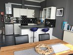 Kitchen/Diner with sea views