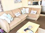 spacious corner sofa