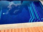 vista de la piscina desde la recamara principal
