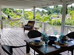 huge covered porch, dine, read or relax in the hammock
