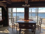 Dining area with a view of the ocean