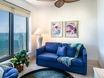 Oceanfront Sitting Room in 2nd Master Bedroom