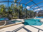 Pool and Spa with Privacy Landscaping