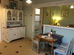 Well equipped Kitchen with Table and chairs.