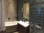 Bathroom. Fully equipped bath, toilet and separate additional shower cabin.