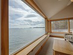 Views of ocean and Cadillac Mountain from living room