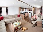 Spacious, cosy lounge with 40' TV and DVD player