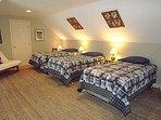 Second Floor Bedroom with 3 Twins
