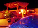 Lights Color Pool and Hot Tub with 72 jets & Water Fall. Blue Tooth Sound System Poolside. Awesome!
